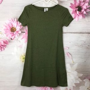 H&M Olive Green Casual Dress